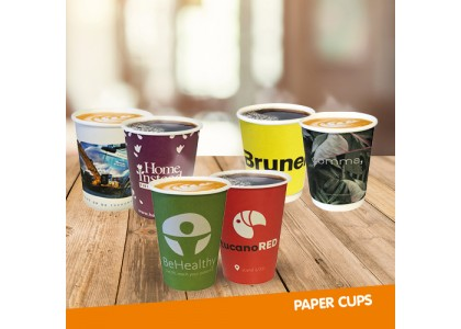 แบบฟอร์มการประมวลผลแก้วกระดาษโฆษณาเครื่องดื่มเย็นแก้ว
