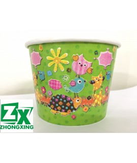 390(S)cc  Ice cream cup, snack cup, cold drink cup, personalized cartoon paper cup