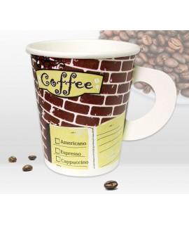 ถ้วยกาแฟกระดาษมือจับ 6.5oz