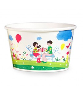 Ice cream paper cup 750 cc